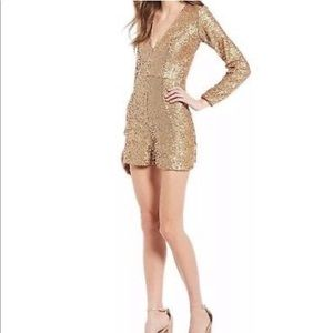 Dress the Population Bianca Gold Romper